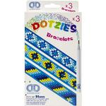 Diamond Dotz DTZ11-007 Diamond Dotzies Armbänder Set blau, 3 glitzernde Armbänder zum Selbstgestalten, längenverstellbar, ideal für Kinder
