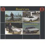 Die Autos von James Bond 007 Film Souvenir-Stempel Blatt - 4 Briefmarken / 2014 / Benin/MNH