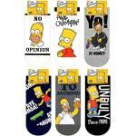 Die Simpson Sneakersocken Charakter Herren Knöchel Socken 6 Paaren - Bart Simpson, Homer Simpson