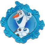 Disney © Frozen DIE EISKÖNIGIN OLAF - Aufnäher, Bügelbild, Aufbügler, Applikationen, Patches, Flicken, zum aufbügeln, Größe: 7,3 x 7 cm