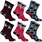 Disney Socks and Underwear – Herren-Socken Lizenz: Disney, Looney Tunes, Snoopy aus Baumwolle – verschiedene Modelle je nach Verfügbarkeit – Mehrfarbig Gr. One size, 6 Paar Tom and Jerry