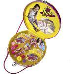 Disney Soy Luna Schminkkoffer für Mädchen (Set enthält Nagellack, verschiedene Schminke, Schmuck, Sticker), ungiftige Kinder-Schminke auf Wasserbasis