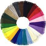DOITEM Reißverschluss, 24 Farben Nylon Reißverschlüsse, 20cm lang, 2.5cm breit für Kleidung Tasche Mäppchen Kissenbezug, 120 Stück