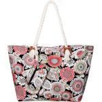 DonDon Strandtasche »Shopper wasserabweisende Tasche« (2-tlg), Große Strandtasche, mit Reißverschluss, inkl. kleinem Beutel, bunt, St. Barth Island