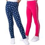 Doppelpack Thermoleggings von ZAB kids pink/blau Mädchen Kleinkinder