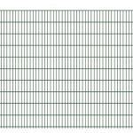 Doppelstabmattenzaun leicht 6/5/6 RAL 6005 Moosgrün Höhe 2030 mm - hochwertiger Doppelstabmattenzaun in leichter Ausführung