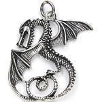 Drachensilber Drache mystisch Schmuck Anhänger Fantasy Larp 925 Silber, Länge mit Öse: 5cm