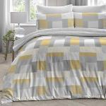 Dreams & Drapes Boheme Bettbezug-Set, 100 % gebürstete Baumwolle, ockergelb, für Doppelbett