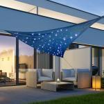 dreieckig Sonnensegel mit LED Lichtern - verschiedene Modelle