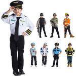 Dress Up America Airline Pilot Rollenspiel Kostüm für Kinder von 3-6 Jahren