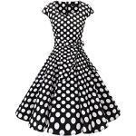 Weiße Rockabilly Dresstells Rockabilly-Kleider & 50er Jahre Kleider für Partys für Damen