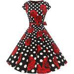 Rosa Rockabilly Dressystar Rockabilly-Kleider & 50er Jahre Kleider für Damen
