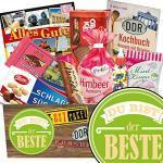 Du bist der Beste Ostalgie Geschenkset DDR Suessigkeiten-Box mit Puffreis-Schokolade, Liebesperlenfläschchen, Othello Keks Wikana uvm.