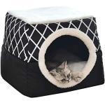 DUCHEN Haustierzelt Haustier Nest Höhlenbett Tragbare kleine Hunde Katzen Hundebett Kleintiere Schlafsack Höhlenbetten, 2 in 1 Faltbar