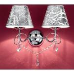 Due p beleuchtung moderne wandleuchte 2553 ap2 chrome e14 led metall kristall wandleuchte, lampenschirm silber