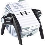 Durable 241601 Rollkartei Telindex Flip Vegas, mit 500 Karteikarten für Adressen, Register A-Z, schwarz