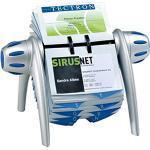 Durable 241723 Rollkartei Visifix Flip Vegas, für 400 Visitenkarten, Register A-Z, silber