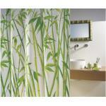Duschvorhang spirella Bambus Textil 120 x 200 cm