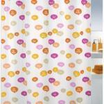 Duschvorhang spirella Ciao 180 x 200 cm orange/pink