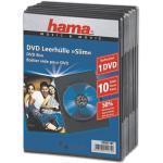DVD/Blu-ray-Leerhüllen »Slim« - 10 Stück schwarz, Hama, 13.5x19x0.7 cm