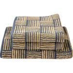 Dyckhoff Handtuch Set Golden Shades Basket, mit graphischem Muster goldfarben Handtuch-Sets Handtücher Badetücher