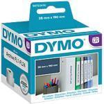 DYMO LW Rückenschilder 99018 Schwarz auf Weiß 38 mm x 190 mm