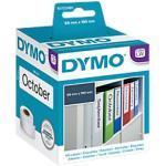 Dymo LW S0722480 / 99019 Authentic Ordner-Rückenschilder Selbstklebend Weiß 59 x 190 mm