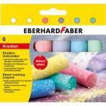 EBERHARD FABER Straßenmalkreide Glitzer farbsortiert 6 St.