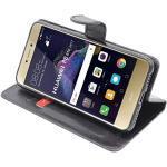 ebestStar - kompatibel mit Huawei P8 Lite 2017 Hülle Kunstleder Wallet Case Handyhülle [PU Leder], Kartenfächern, Standfunktion, Schwarz [Phone: 147.2 x 72.9 x 7.6mm, 5.2'']