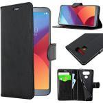ebestStar - kompatibel mit LG G6 Hülle H870, G6 Dual Kunstleder Wallet Case Handyhülle [PU Leder], Kartenfächern, Standfunktion, Schwarz [G6: 148.9 x 71.9 x 7.9mm, 5.7'']