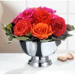 Echtes Rosengesteck, 11 Rosen und Schale