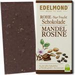 """Edelmond """"Nur Frucht"""" Mandel Zartbitter Schokolade, ohne Zucker. Bio Tafel. Vegan, Laktosefrei (1 Tafel)"""