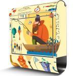 Edelstahl Briefkasten Von Banjado Mit Motiv Fisherman