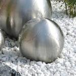 Edelstahl-Brunnenkugel inkl. Wasserbecken D: 40 cm