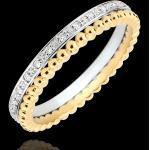 Edenly Ring Fleur de Sel - Doppelring - Diamant - Gelbgold und Weißgold 18 Ka