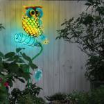 EGLO Dekolicht, LED Außen SOLAR Steck Lampe Eule Vogel Terrassen Deko Erdspieß Park Leuchte Eglo 48715