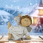 EGLO LED Dekolicht, Shabby Look Engel Figur sitzend Tisch Dekoration Weihnachten X-MAS Stand Schmuck Eglo41234