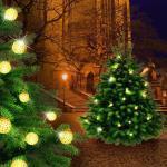 EGLO LED-Lichterkette, LED Lichter Kugel Kette gold Wohnraum Deko Party Beleuchtung 16-flammig 75045