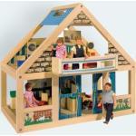 Eichhorn 100002526 - kleines Holz Puppen Haus, inklusive Zubehör