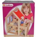 Eichhorn Puppenhaus, mit Einrichtung und Spielfiguren; Made in Europe beige Kinder Puppenhaus Ab 3-5 Jahren Altersempfehlung