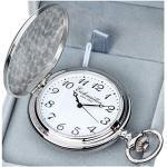 Eichmüller Savonnette Quartz Taschenuhr aufklappbar mit Karabiner Kette und Box