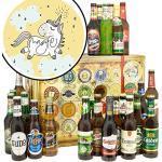 Einhorn / 24x Biere DE und Welt/Einhorn Geschenke für Frau/Biersorten Adventskalender