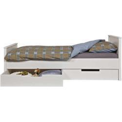 Einzelbett in Weiß Bettkasten