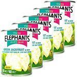 ELEPHANT - 5er Pack Green/Grüne Jackfruit in Salzlake eingelegt in 540 g Dose - Original Junge Jackfrucht in Stücken ideal als kalorienarmer Fleischersatz - Young Jack Fruit vegan in Konserve