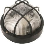 Elro Kellerleuchte Außenleuchte rund, schwarz, E27 Lampe Keller Garage Hauswand