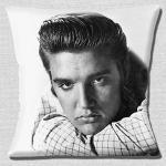 "Elvis The King Of Rock & Roll' schwarz weiß Foto Druck geschlossen - 16 "" (40cm) Kissenbezug"
