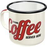 Emaille-Becher Strong Coffee