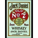 empireposter Jack Daniels Whiskey Retro - Bedruckter Spiegel mit Kunststoff Rahmen in Holzoptik, Kult-Spiegel - Grösse 20x30 cm