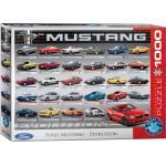 empireposter Puzzle »Ford Mustang Evolution - 1000 Teile Puzzle Format 68x48 cm.«, 1000 Puzzleteile