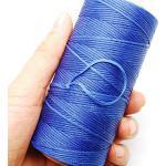 EPRHY Leder-Nähgarn, gewachst, 150D, 0,8 mm, Leder, handgenäht, geflochten, DIY Polyester-Wachsband, 120 g blau